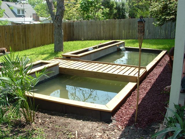 Blog jack palmer web multimedia for Wooden koi pond construction